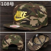 Nike Tech Swoosh Cap, Black/White, Size can be adjusted Camouflage