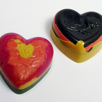 Recycled Crayons Heartsgreat for Valentines by ourchildrensearth