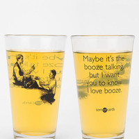 Booze Talking Pint Glass