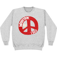 Woodstock Men's  1969 Cnd Sign Sweatshirt Grey
