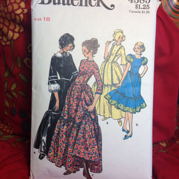 Frontier or Western Costume Pattern Butterick 4585-Vintage
