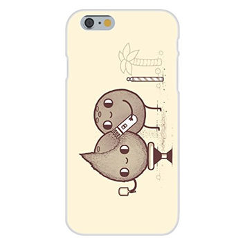 Apple iPhone 6 Custom Case White Plastic Snap On - 'Coconut Shavings' Barber Humor