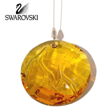 Swarovski Crystal 2010 SCS Event Fire Window Ornament Suncatcher #1017151