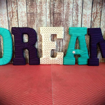 """Handmade Decorative Letter Set """"Dream"""" by Tightly Wound Designs"""