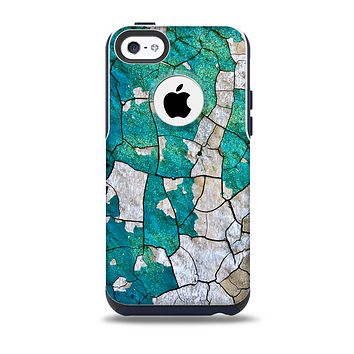 The Cracked Multicolored Paint Skin for the iPhone 5c OtterBox Commuter Case