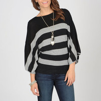 AnnaLee & Hope Women's Striped Dolman Sleeve Sweater | Overstock.com
