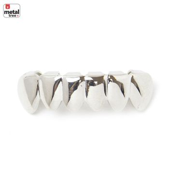 Jewelry Kay style Men's Hip Hop Plain Silver Toned Bottom Teeth GRILLZ * Made IN KOREA * S 001 S