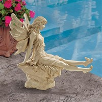 SheilaShrubs.com: Twinkle Toes Fairy Statue WU68709 by Design Toscano: Garden Sculptures & Statues