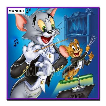 5D Diamond Painting Tom and Jerry Orchestra Kit