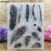 Various Feather  Clear Stamp For Scrapbook DIY photo cards account rubber stamp clear stamp transparent stamp  14*18CM