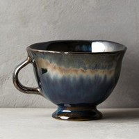 Echo Hue Teacup by Anthropologie in Blue & Black Size: Teacup House & Home