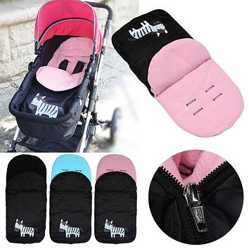 Stroller Accessory Baby Trolley Foot Warmer Thickened Feet Warming Pad Sleeping Bag Cartoon Zebra Envelopes Toddlers Sleepsack