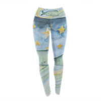 "Jennifer Rizzo ""Swimming WIth The Stars"" Illustration Animals Yoga Leggings"