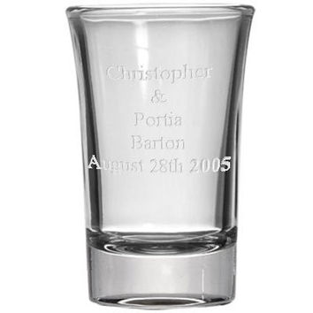 Personalized 1.5oz Shot Glass, Custom Laser Etched