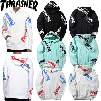 Hoodies Skateboard Alphabet Hip-hop Couple Jacket [11412550343]