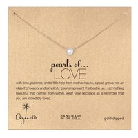 Dogeared Pearls of Love Necklace, Gold Dipped - Small