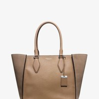 Gracie Large Suede and Leather Tote | Michael Kors