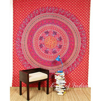 Red Queen Elephant Tapestry Bedspread