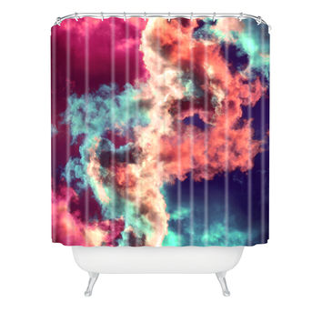 Caleb Troy Yin Yang Painted Clouds Shower Curtain