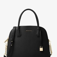 Mercer Large Leather Dome Satchel | Michael Kors
