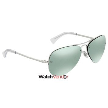 Ray Ban Dark Green/Silver Mirror Aviator Sunglasses RB3449 904330 59