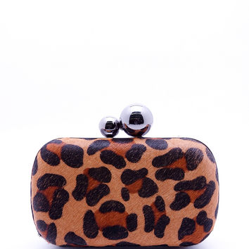 Leopard Clutch Bag - Animal Print