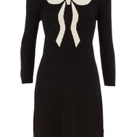 Black/ivory knitted bow dress - View All - Dresses - Dorothy Perkins