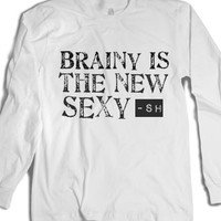 Sherlock-Brainy Is The New Sexy-Unisex White T-Shirt
