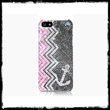 Swarovski Chevron Anchor Bling iPhone 5/5s Crystal Case Made With Swarovski Elements Crystals - Bling iPhone case