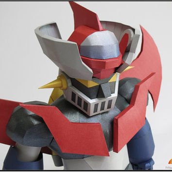 SD Mazinger Z,Create your own Gundam,Instant Pdf download, 3D Pattern,Paper toys,Handmade Gundam, Paper Gundam,Paper Crafts,Paper Robot,3D