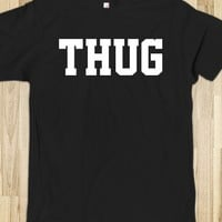 Awesome Black and White 'Thug' Gangsta T-Shirt