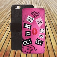 iphone 6 case burn book kiss iphone 4/4s iphone 5 5C 5S iPhone 6 Plus iphone 5C Wallet Case,iPhone 5 Case,Cover,Cases colorful pattern L482