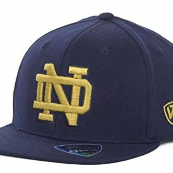 Notre Dame Fighting Irish Men's One Size Top of the World NCAA Slam Fitted Hat Cap