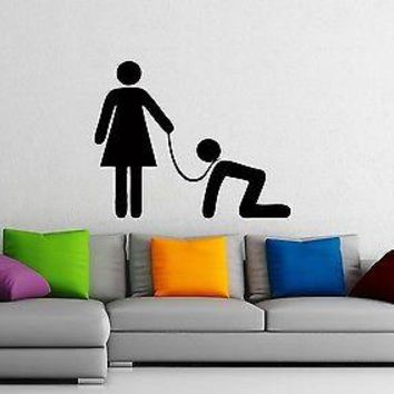 Wall Stickers Vinyl Decal Family Husband Wife Henpecked Joke Unique Gift z1021