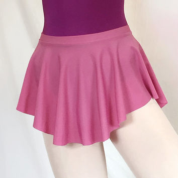 Ballet Dance Skirt Rose Lycra/Spandex- SAB Style- Royall Dancewear-- pull-on Lyrical ice skating circle skirt