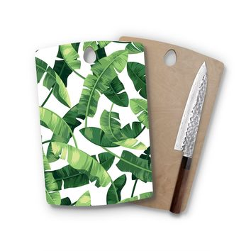 Banana Leaf Rectangle Cutting Board Trendy Unique Home Decor Cheese Board