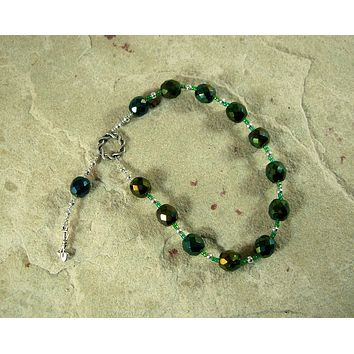 Enlil Pocket Prayer Beads: Sumerian/Mesopotamian God of Earth and Sky, God of Storms, Chief of Gods