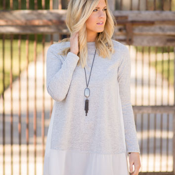 Split Decision Sweater Tunic