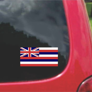Hawaii State Flag Vinyl Decal Sticker Full Color/Weather Proof.