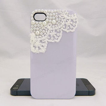 Lace iPhone case,purple,bling iphone 6 case,Crystal iphone 6 Plus,Rhinestone iphone 5/5S/5c,iphone 4 case samsung galaxy S3/S4/S5