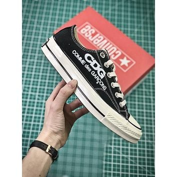 COMME des GAR?ONS CDG x Converse Chuck Taylor All Star Black White Low Sneakers