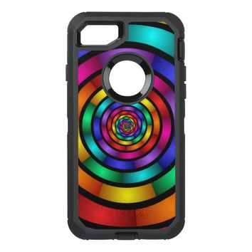 Round and Psychedelic Colorful Modern Fractal Art OtterBox Defender iPhone 7 Case