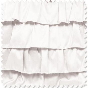Ruffles - White Fabric By The Yard | 100% Polyester