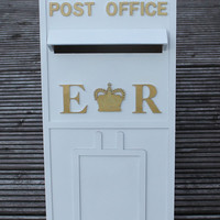 Personalised Wooden Wedding Post Box with fully locking lid
