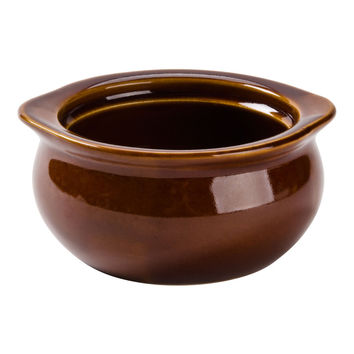 Soup Bowl - Brown 12 oz. Onion Soup Crock / Bowl