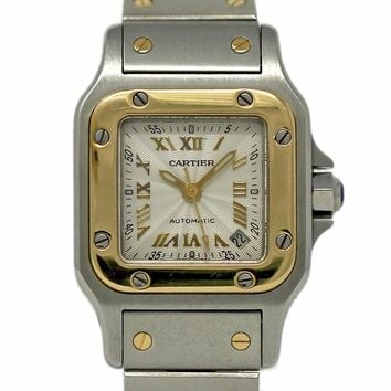 Cartier Santos Galbee swiss-automatic womens Watch 2423 (Certified Pre-owned)
