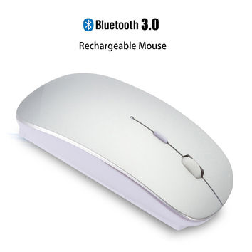 3.0 Bluetooth Mouse for Macbook Air Pro,Support for Win10/Mac OS Computer Wireless Mouse Rechargeable Mute Silent Smart Mouse