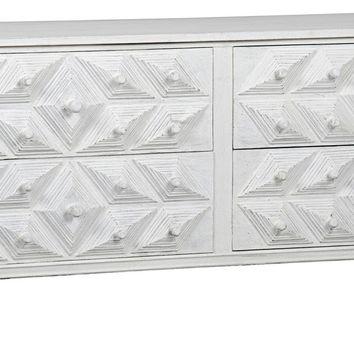 Henning 4 Drawer Dresser White Weathered