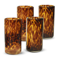 Tortoise Shell Highball Glasses