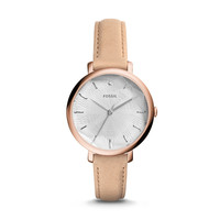 Jacqueline Beige Leather Watch